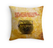 What my #Tea says to me - November 5, 2014 Pillow Throw Pillow
