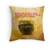 What my #Tea says to me - November 5, 2014 Pillow Throw Pillow