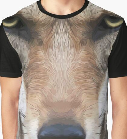 Wolf,digital photo,manipulated,animal,nature,ready to attack Graphic T-Shirt