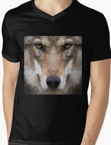 Wolf,digital photo,manipulated,animal,nature,ready to attack Mens V-Neck T-Shirt