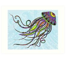 Electric Jellyfish Art Print