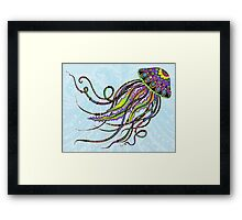 Electric Jellyfish Framed Print