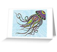 Electric Jellyfish Greeting Card