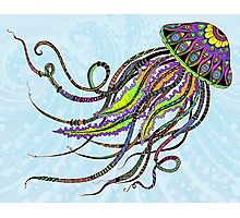 Electric Jellyfish Photographic Print