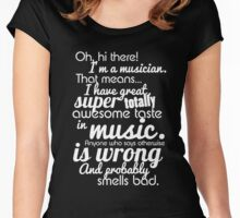 """""""Deal With It"""" I'm A Musician  Women's Fitted Scoop T-Shirt"""