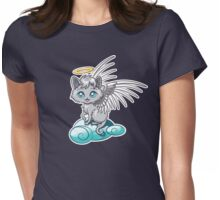 Angel Cat Chibi Womens Fitted T-Shirt