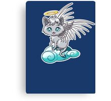 Angel Cat Chibi Canvas Print