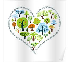 Protect the forests heart Poster
