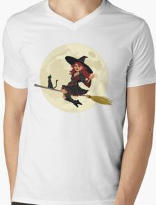 Red Witch Mens V-Neck T-Shirt