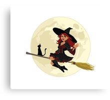 Red Witch Canvas Print