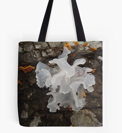 Pretty, frilly fungus (Tremella fuciformis) Tote Bag