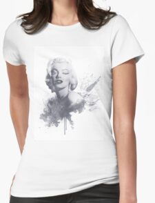 Marilyn Monroe Graphic Print Womens Fitted T-Shirt