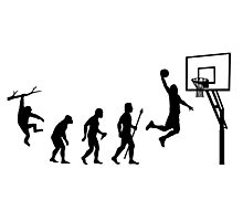 Basketball Evolution Photographic Print