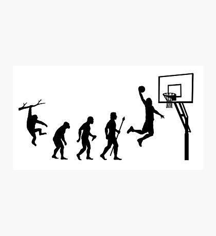 Basketball Evolution Photographic Print