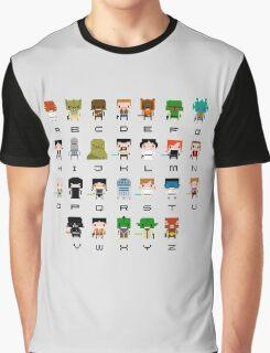 War of Stars Alphabet Graphic T-Shirt