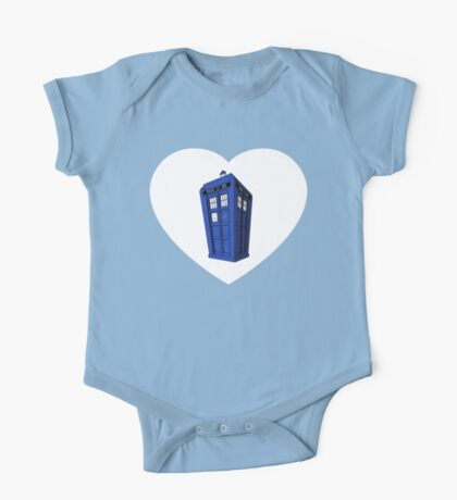 Tardis Heart One Piece - Short Sleeve