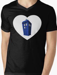 Tardis Heart Mens V-Neck T-Shirt
