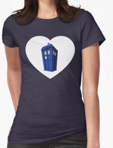 Tardis Heart Womens Fitted T-Shirt