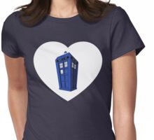 Tardis Heart Womens Fitted T-Shirt