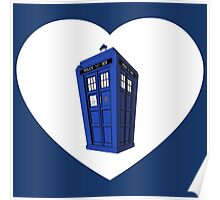 Police Box Heart Poster