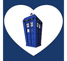 Police Box Heart Photographic Print