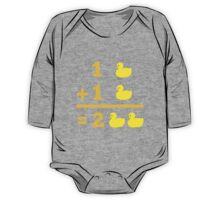 duckling 1 plus 1 with numbers One Piece - Long Sleeve