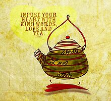 What my #Tea says to me - February 25, 2013 pillow by catsinthebag