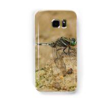 Male Slender Skimmer Dragonfly resting Samsung Galaxy Case/Skin