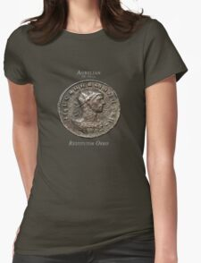 Ancient Roman Coin - RESTITUTOR ORBIS Womens Fitted T-Shirt