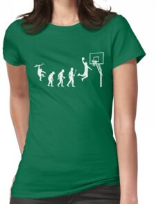 Basketball Evolution Funny T Shirt Womens Fitted T-Shirt