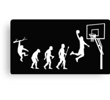 Basketball Evolution Funny T Shirt Canvas Print