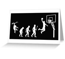 Basketball Evolution Funny T Shirt Greeting Card