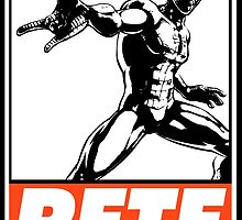 Spider-Man Pete Obey Design by SquallAndSeifer