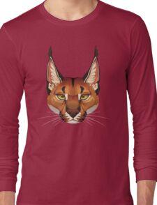 Caracal Face  Long Sleeve T-Shirt
