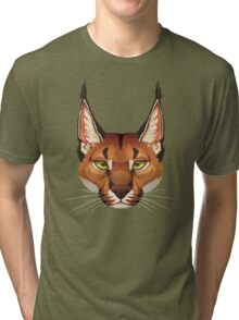 Caracal Face  Tri-blend T-Shirt