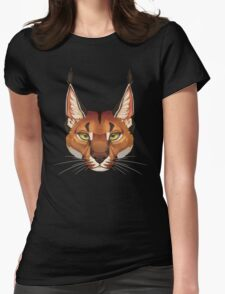 Caracal Face  Womens Fitted T-Shirt