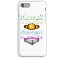 "Official Delilah Hayden""Kawaii VS Senpai"" Design iPhone Case/Skin"