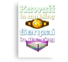 "Official Delilah Hayden""Kawaii VS Senpai"" Design Canvas Print"