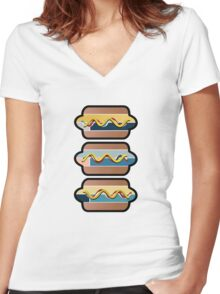 Mustard or Ketchup ? Women's Fitted V-Neck T-Shirt