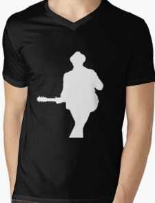 Patrick Stump White Silhouette Mens V-Neck T-Shirt