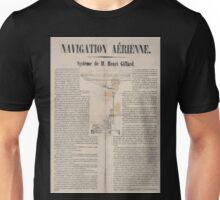 0257 ballooning Navigation aérienne système de M Henri Giffard Unisex T-Shirt