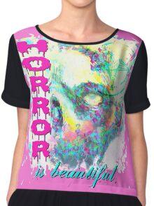 HORROR IS BEAUTIFUL - zombie face Chiffon Top