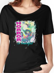 HORROR IS BEAUTIFUL - zombie face Women's Relaxed Fit T-Shirt