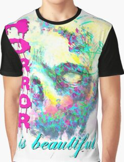 HORROR IS BEAUTIFUL - zombie face Graphic T-Shirt