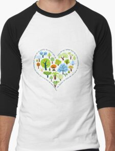 Protect the forests heart Men's Baseball ¾ T-Shirt