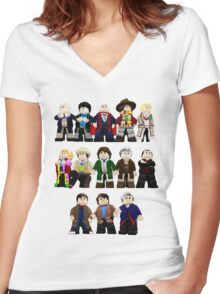 Doctor Who - Toy Doctors Women's Fitted V-Neck T-Shirt