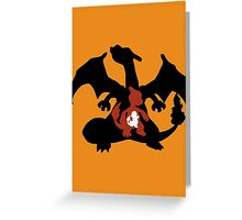 Charmander - Charmeleon - Charizard Evolution Greeting Card