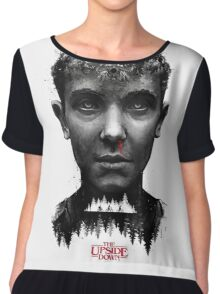 The Upside Down Tribute Painting Art Chiffon Top