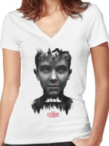 The Upside Down Tribute Painting Art Women's Fitted V-Neck T-Shirt
