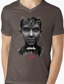 The Upside Down Tribute Painting Art Mens V-Neck T-Shirt